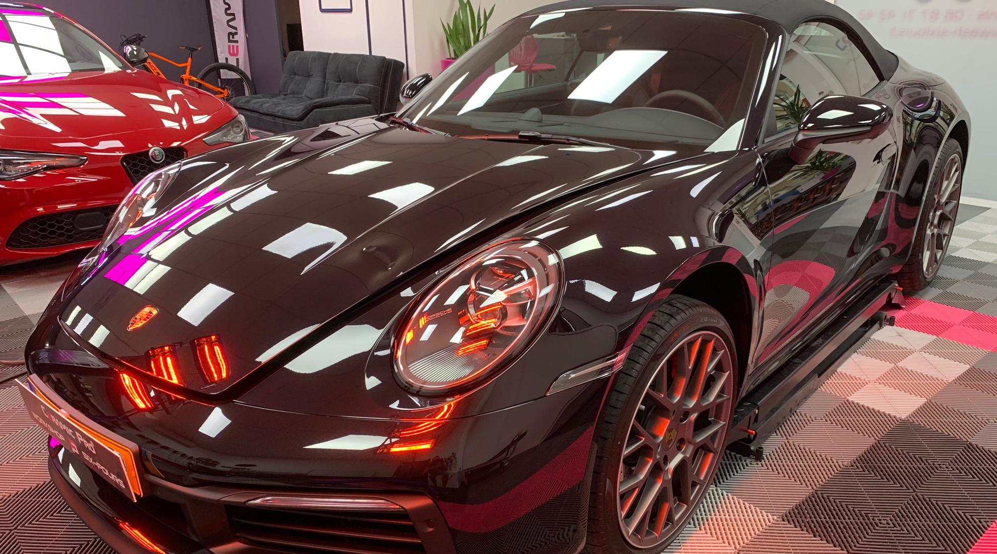 Protection céramique sur Porsche 911 carrera 4 s